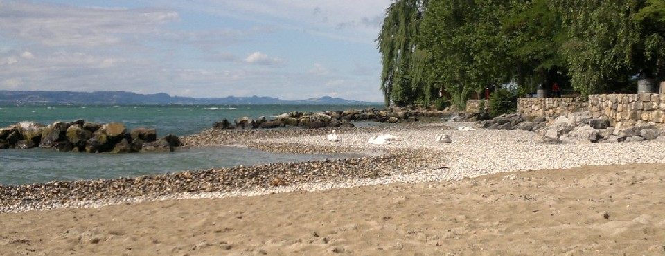 Neuchatel - beach and lake